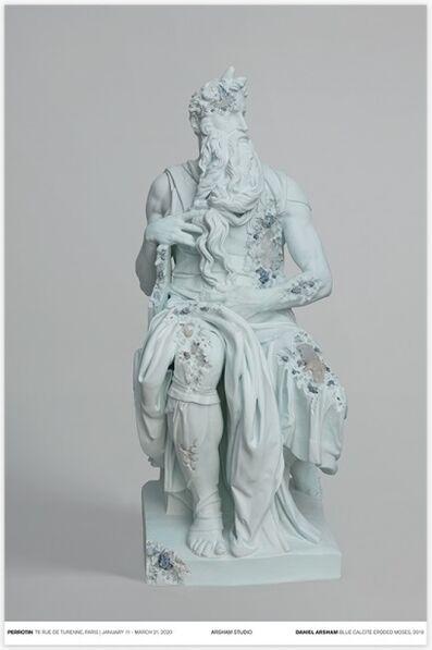 Daniel Arsham, 'Blue Calcite Eroded Moses', 2019