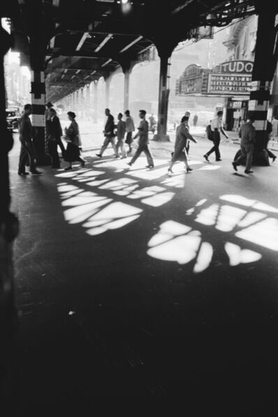 Werner Bischof, 'Pedestrians beneath elevated train track, New York, USA', 1953