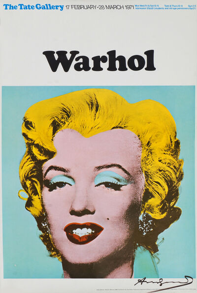 Andy Warhol, 'Marilyn (Exhibition poster for Warhol: The Tate Gallery)', 1971