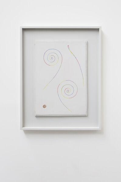 Georges Vantongerloo, 'Deux spirales, une fusée, une tache rouge avec cercles verts', 1946