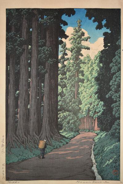 Kawase Hasui, 'The Road to Nikko', 1930