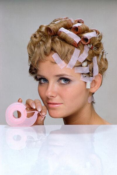 William Helburn, 'Cheryl Tiegs, Hair Tape, 3M', 1968