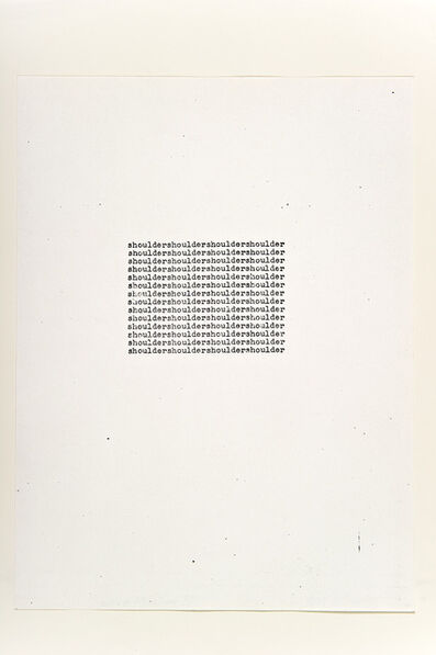 Carl Andre, 'Shoulder', 1963