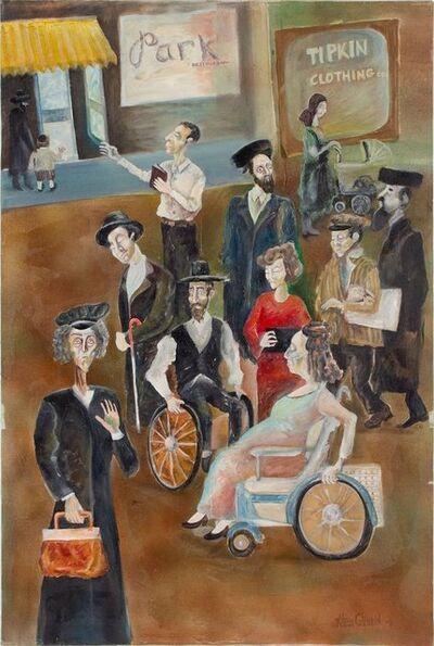 Alexander Glinkin, 'Lower East Side Surrealist Judaica Street Scene', 20th Century