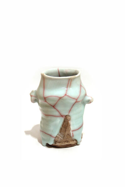 Kodai Ujiie, 'Celadon and Lacquer Flower Vase', 2019