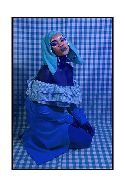 Atong Atem, 'Self Portrait in Blue', 2018