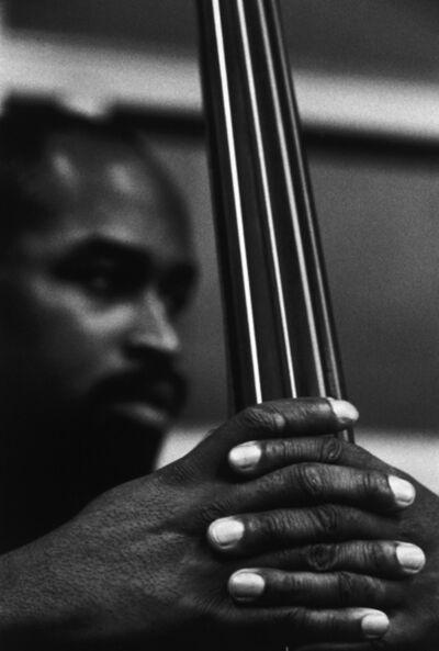 Herb Snitzer, 'Eddie Jones, Count Basie Orchestra recording session', 1960-printed 1995