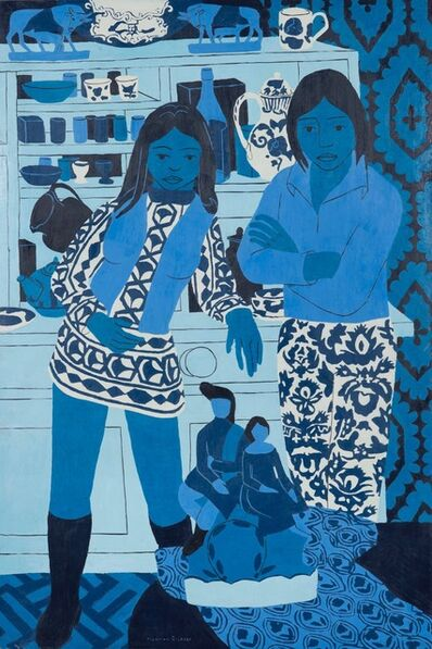 Norman Gilbert, 'Blue and White Figures', 1973