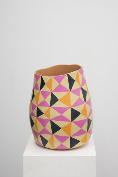 Athene Galiciadis, 'empty sculptures (pink, orange, black and sand)', 2014