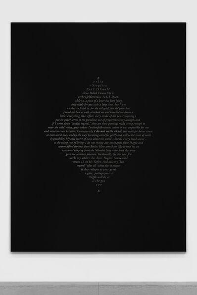 Jorge Méndez Blake, 'Cartas de Kafka (Milena Jesenska)', 2018