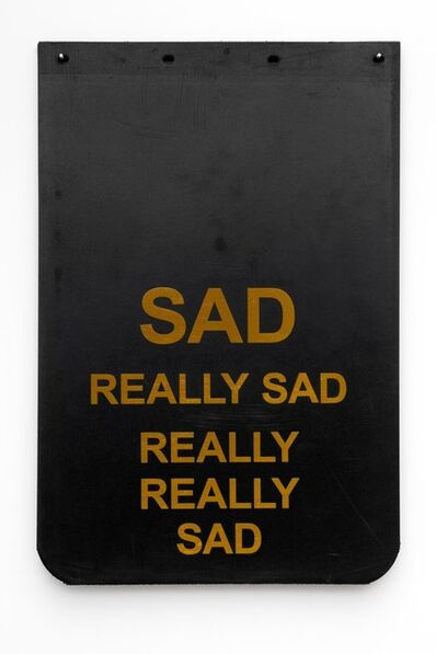 "Cary Leibowitz (""Candy Ass""), 'Sad Really Sad Really Really Sad (Gold)', 2019"