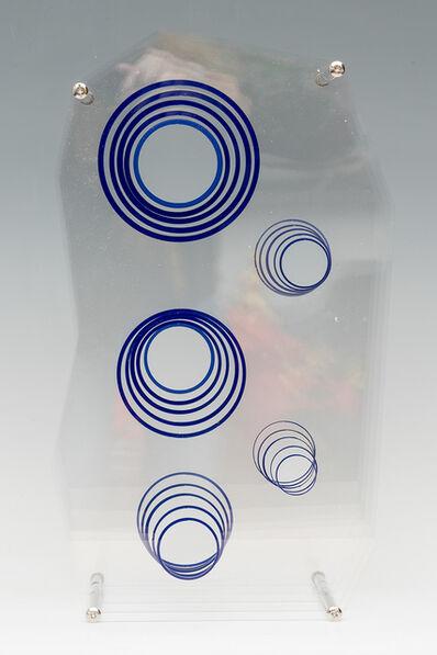 Pedro Sandoval, 'Inducción cromática hacía el azul, círculos flotantes', 2018