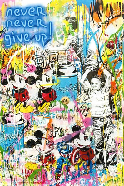 Mr. Brainwash, 'Never Never Give Up! (NEB057)', 2019