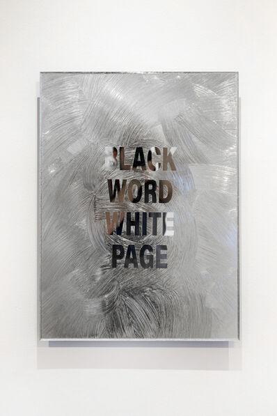 Emo de Medeiros, 'Black Word White Page', 2018