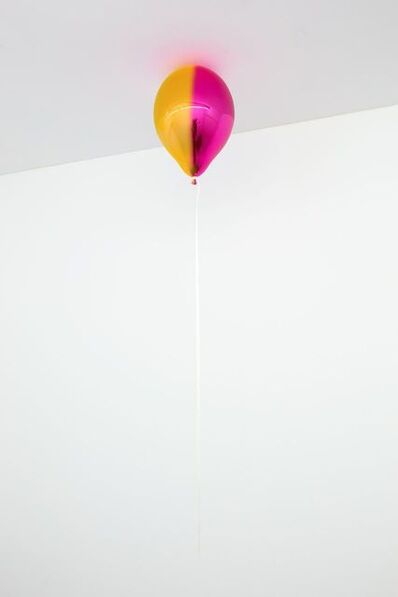 Jeppe Hein, 'Medium yellow and pink mirror balloon (Vertical)', 2020