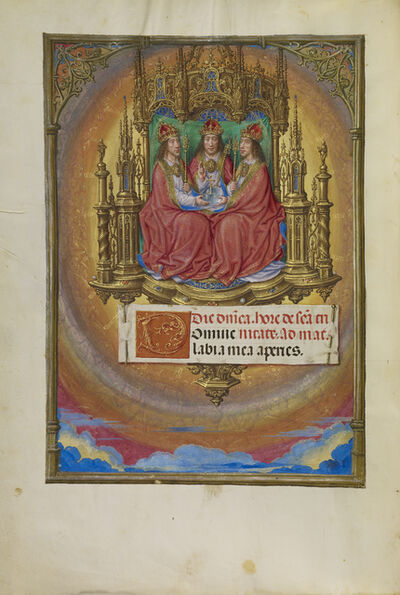 Master of James IV of Scotland, 'The Holy Trinity Enthroned', 1510-1520