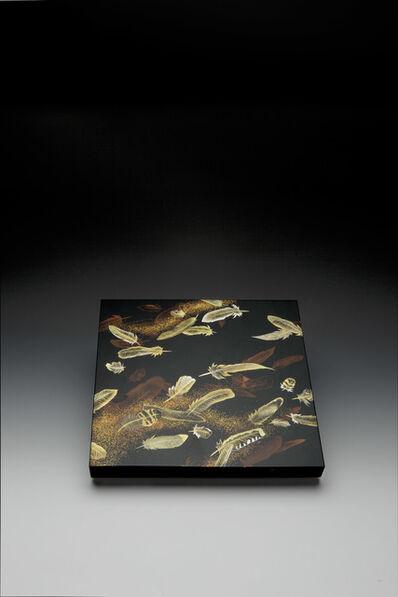 """Yoshio Okada, '""""Feathers"""" Maki-e Lacquer Box (T-3532)', 2008"""