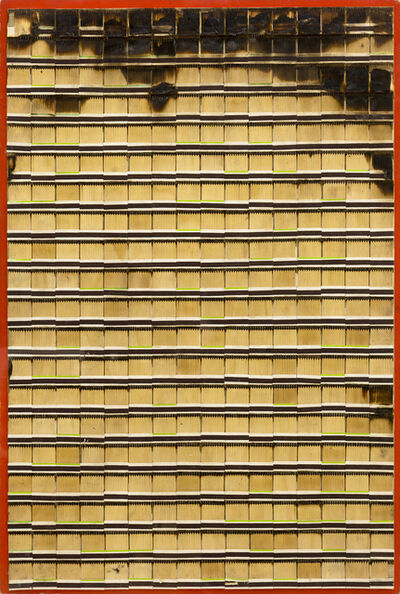 Bernard Aubertin, 'Allumettes brulées', 1974
