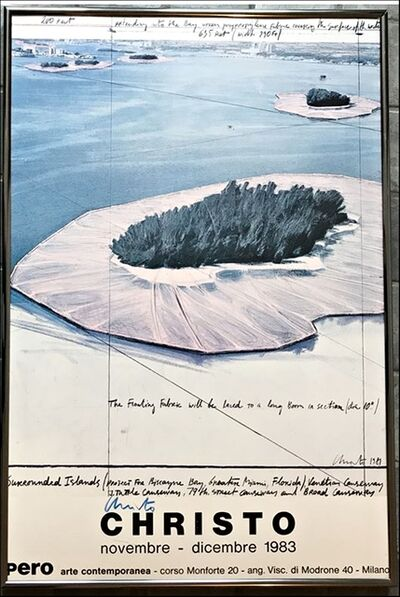 Christo, 'Surrounded Islands, Pero Arte Contemporanea, Milano (Signed) with special provenance', 1983