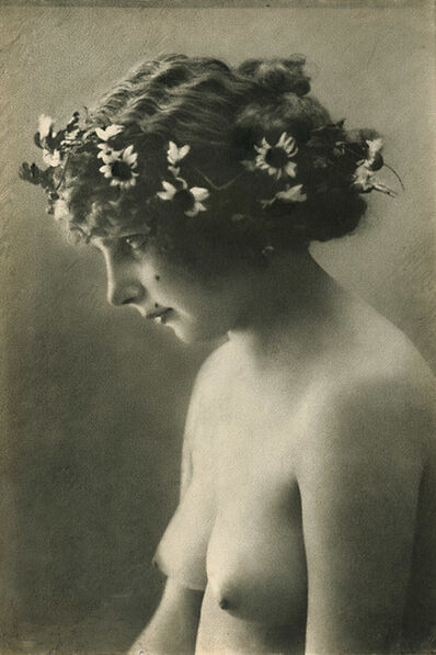 Anonymous Nudes, 'Female Nude with Wreathe of Flowers', 1910c
