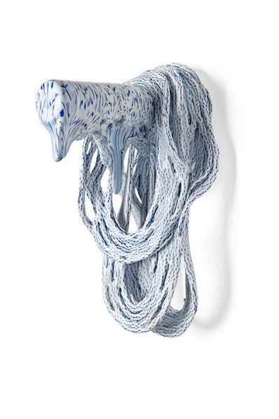 Pernille Braun, 'Untitled, Back [White'Blue]', 2018
