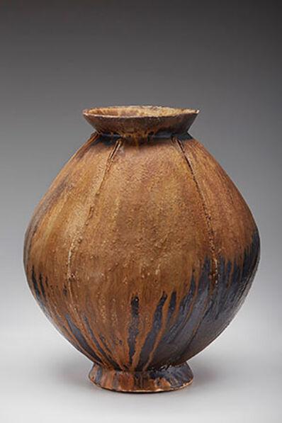 Randy Johnston, 'Lobed vase, natural ash glaze with iron slip'