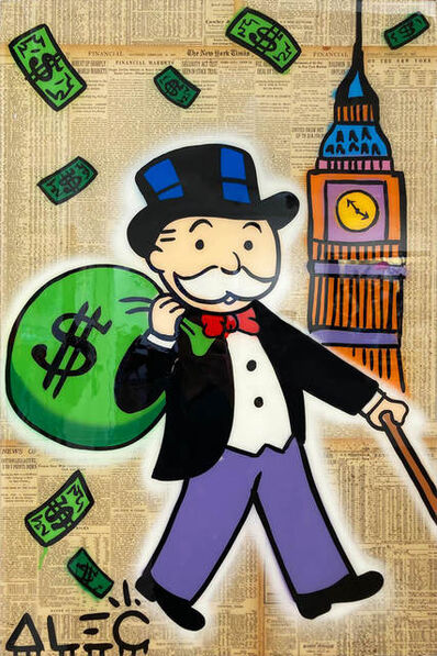 Alec Monopoly, 'Monopoly $ Bag with Big Ben', 2021