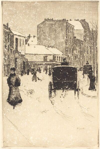 Norbert Goeneutte, 'Boulevard Clichy in the Snow (Le boulevard Clichy par un temps de neige)', 1876