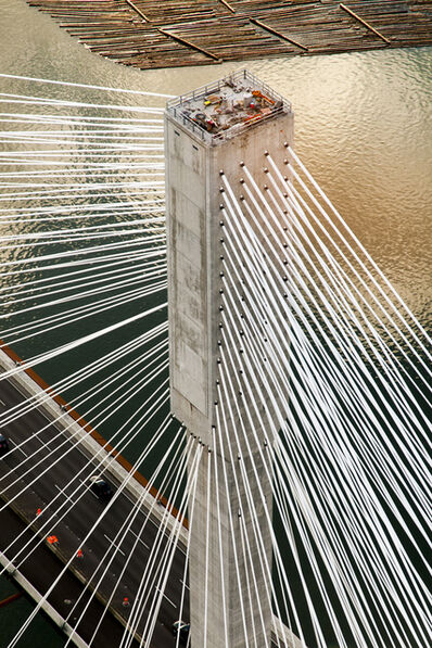 Stuart McCall, 'Port Mann Bridge: Ariel View of North Tower', 2011