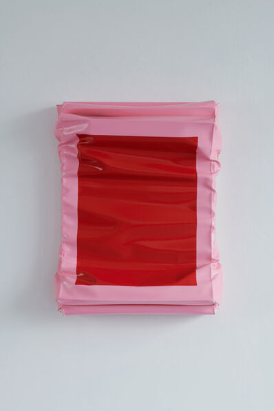 Angela de la Cruz, 'Layers - Small (Red/Brilliant Pink)', 2019