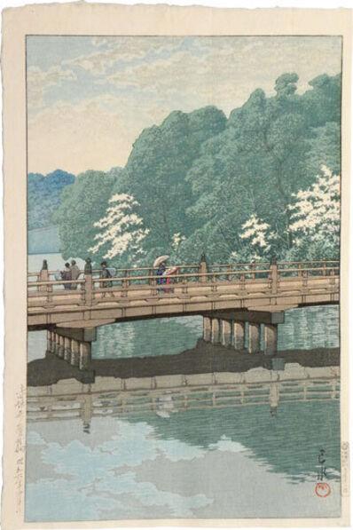 Kawase Hasui, 'Benkei Bridge, Akasaka', 1931