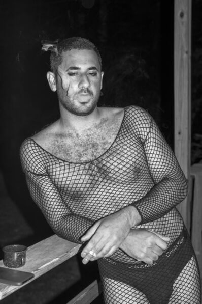 Bryson Rand, 'Jordan Smoking in Mesh Dress (Skowhegan)', 2019
