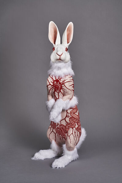 Deborah Simon, 'Flayed Rabbit: Albino with Cells', 2017