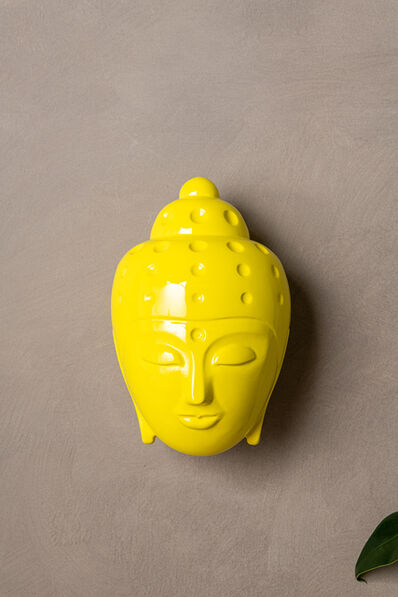 Tal Nehoray, 'Contemporary buddha head sculpture - painted in yellow car paint', 2020