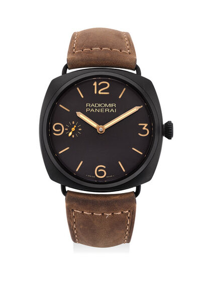 Panerai, 'A fine and attractive limited edition ceramic wristwatch with subsidiary seconds dial and additional strap, numbered 153 of a limited edition of 1,000 pieces', Circa 2013