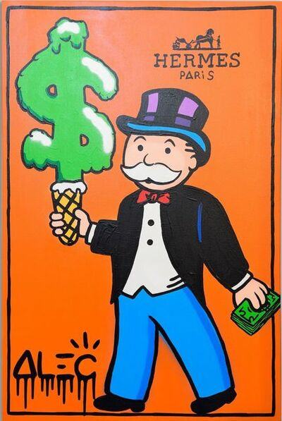Alec Monopoly, 'Hermes Monops with green ice cream ', 2019