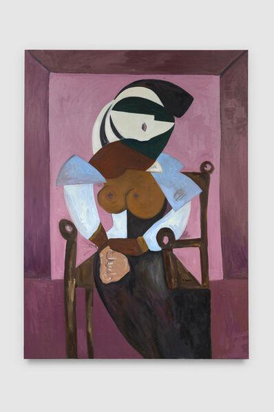 Mattea Perrotta, 'Portrait of a seated woman in blue velvet', 2021