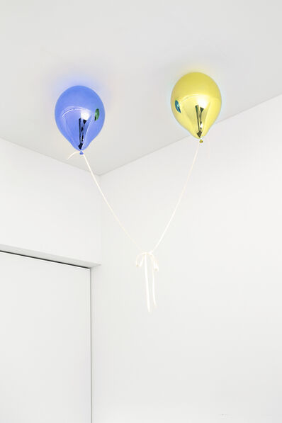 Jeppe Hein, 'Wishes for Two (medium blue and medium yellow)', 2017