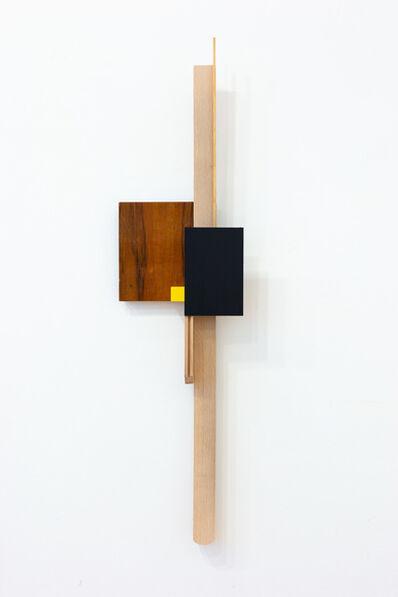 Levente Bálványos, 'Black yellow relief', 2019