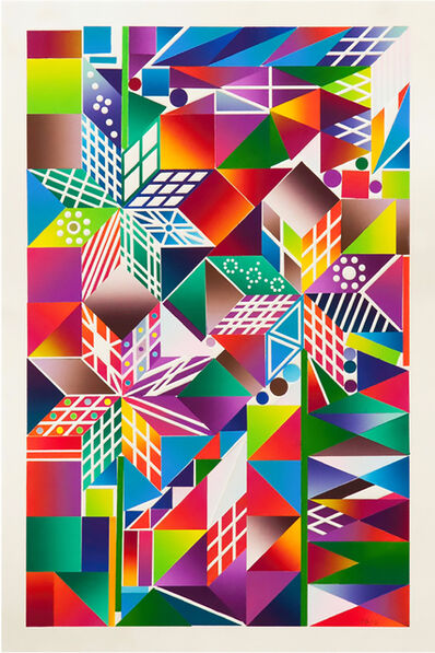 Polly Apfelbaum, 'Atomic Mystic Portrait 9', 2016