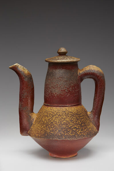Randy Johnston, 'Coffee pot, natural ash glaze with kaolin flashing slip'