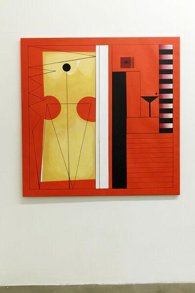 Adriana Minoliti, 'Orange Anormal Modulor', 2016