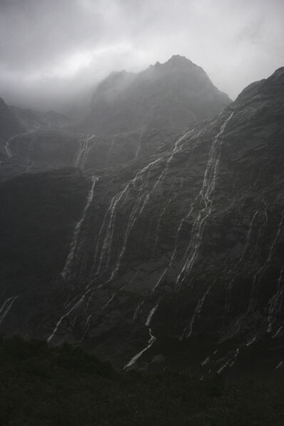 Jem Southam, 'Rain Cascades, Mountains, Fjordland, New Zealand, Autumn', 2018
