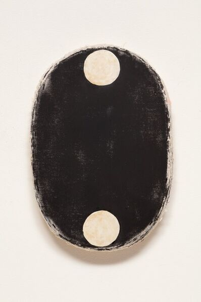 Otis Jones, 'Black with 2 Coffee Circles', 2019