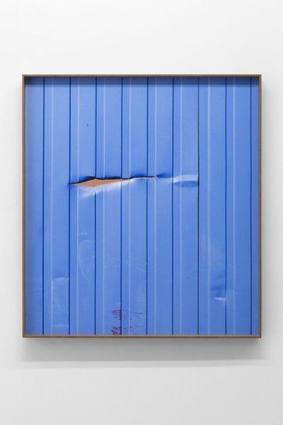 Valentin Carron, 'la fente beige rouge', 2017