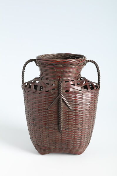 Suzuki Gengensai, 'Hanging Flower Basket in Chinese Style with Side Handles (T-4228)', Showa era (1926, 1989), 1930s