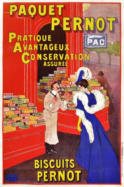 Leonetto Cappiello, 'PAQUET PERNOD - PRATIQUE, AVANTAGEUX, CONSERVATION ASUREE (Practical, Advantageous, Assured Freshness)', 1905