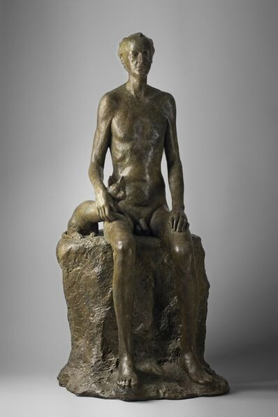 Ascaso, 'HOMBRE CON GATO SONANDO A BAUDELAIRE', 2012