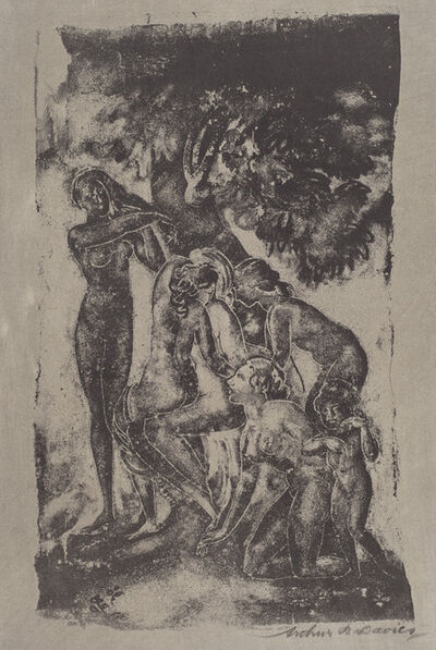Arthur Bowen Davies, 'Figures of Earth', 1920