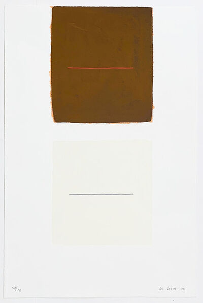 William Scott (1913-1989), 'Untitled - from a poem for Alexander', 1972